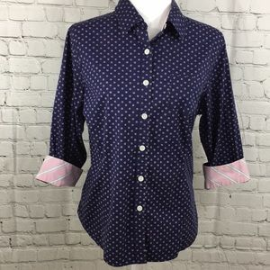 L.L.Bean Polka Dot button down